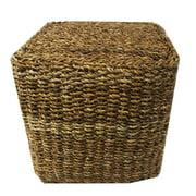 Entrada EN22075 Sq. Cube Pouf - Sea Grass