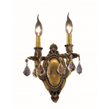 "Elegant Lighting Rosalia 9"" 2 Light Elements Crystal Wall Sconce - image 1 of 1"