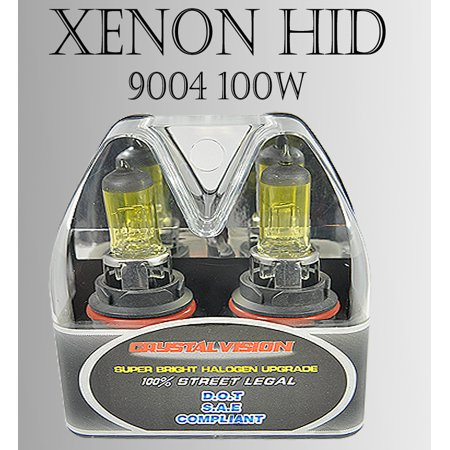 9004 HB1 x2 pcs High Low Beam Xenon HID Yellow Direct Replacement Light Bulbs