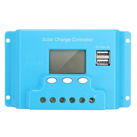 10/20/30A LCD 12V/24V Solar Charge Controller Solar Panel Battery Regulator Safe Protection 2 USB 4-stage PWM - image 3 of 13