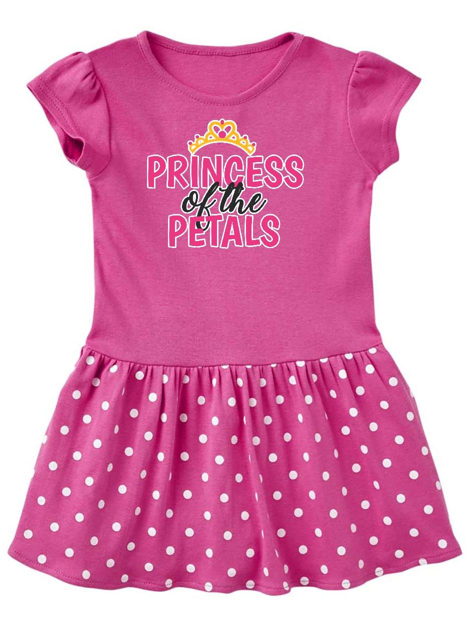 Princess of The Petals with Crown Toddler Dress