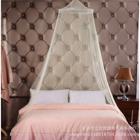 Mosquito Net, JUSTDOLIFE Romantic Breathable Lightweight Bed Canopy Netting Dome for Baby Cribs White