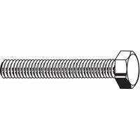 """Fabory 1/2""""-13, Stainless Steel Hex Tap Bolt, 18-8, 5-1/2""""L, Plain Finish, 5 PK"""