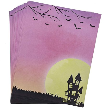Halloween Themed Writing Paper Printable (Paper Junkie Halloween Stationery Letterhead Writing Printer Paper, 8.5 x 11 Inches (96)