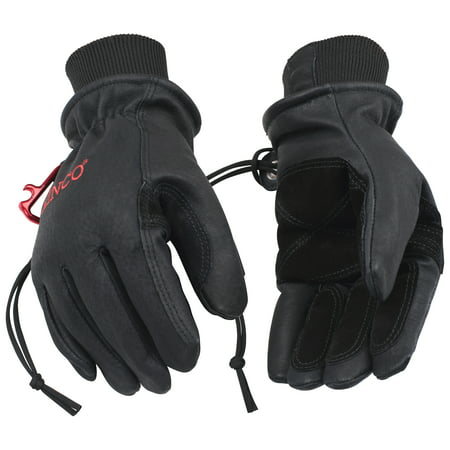 Kinco 900MAX-L Men's Black Premium Top-Grain Pigskin Leather Ski Gloves (Size: L) Kinco Insulated Gloves