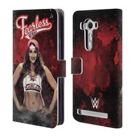 OFFICIAL WWE NIKKI BELLA LEATHER BOOK WALLET CASE COVER FOR ASUS ZENFONE PHONES