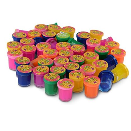 kicko mini noise putty - 48 pack assorted colors - container 1.25 inches - for kids boys and girls, party favor, fun, toy, novelty, gift, - Kids Novelty Toys