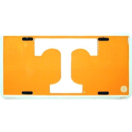 Tennessee T- r/o Orange (White T) embossed metal auto tag
