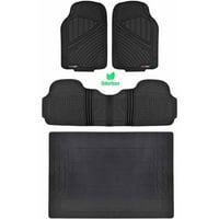 Deals on 4 Pieces Motor Trend Odorless Car Floor Mats w/Cargo Mat