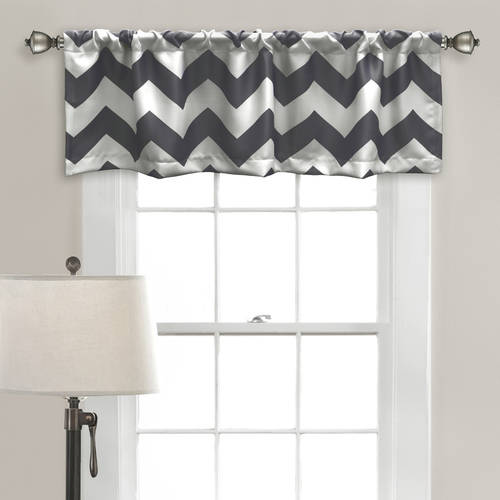 Chevron Room-Darkening Valance Set by Generic