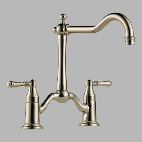 Brizo 62436LF-PN Tresa Two Handle Bridge Kitchen Faucet In ...