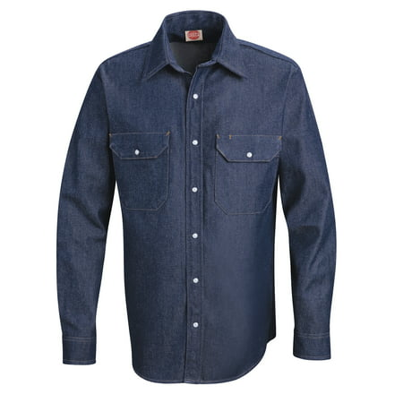- Men's Long Sleeve Deluxe Denim Shirt