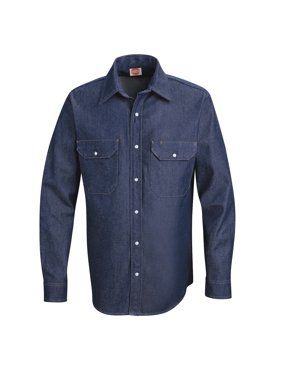 Red Kap Men's Long Sleeve Deluxe Denim Shirt