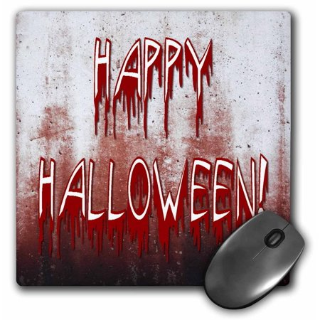 Blood Stains Halloween (3dRose Suffering in Happy Halloween with Blood Stained Wall , Mouse Pad, 8 by 8)