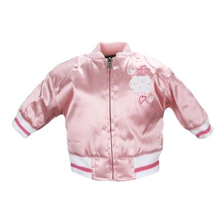 NCAA College Toddlers North Carolina University Satin Cheer Jacket - Pink (Childrens North Face Coat)