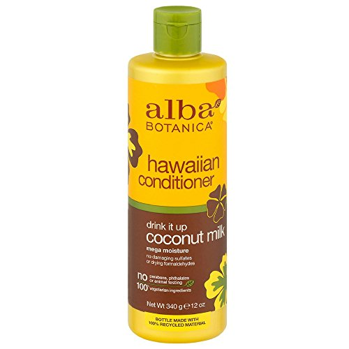 9 Pack Alba Botanica Hawaiian Conditioner, Coconut Milk Mega Moisture 12 Oz Each