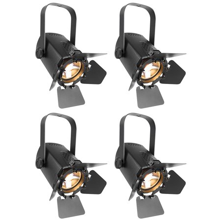 4 Chauvet Dj Eve Tf 20 Led Fresnel Accent Par Can Lights Wdimmers