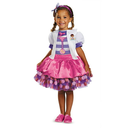 Toddler Doc Mcstuffins Tutu Deluxe Halloween Costume (Toddler Tutu Costume)