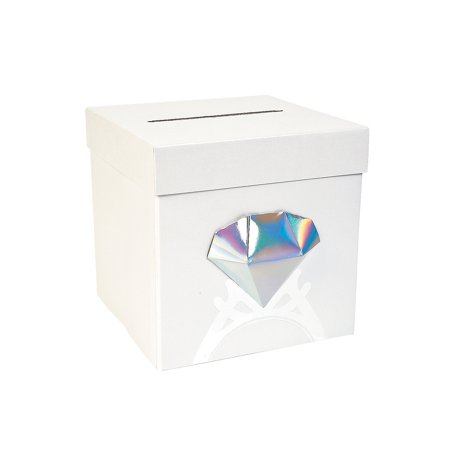 Fun Express - Diamond Card Box for Wedding - Party Supplies - Containers & Boxes - Paper Boxes - Wedding - 1 Piece
