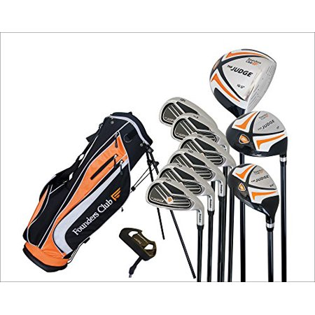 Graphite Steel Golf Club Set - Founders Club The Judge Mens Complete Golf Club Package Set for Men with Graphite and Steel and Stand Bag For Right Hand