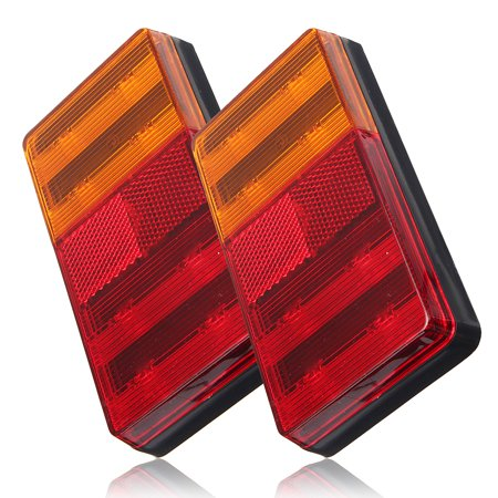 2PCS LED Universal Truck Turn Tail Rear Light Trailer Boat RV Brake Signal Lamp - image 1 de 8