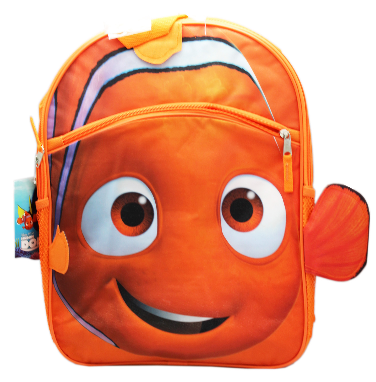 Disney Pixar's Finding Dory Nemo Face and Fins Full Size Kids Backpack (16in)