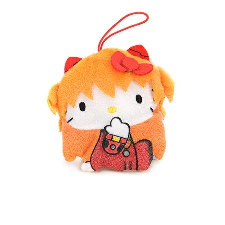 Evangelion x Hello Kitty Asuka Langley Hand Ver Mini Plush Toy Dangler (Halloween Hello Kitty Plush)