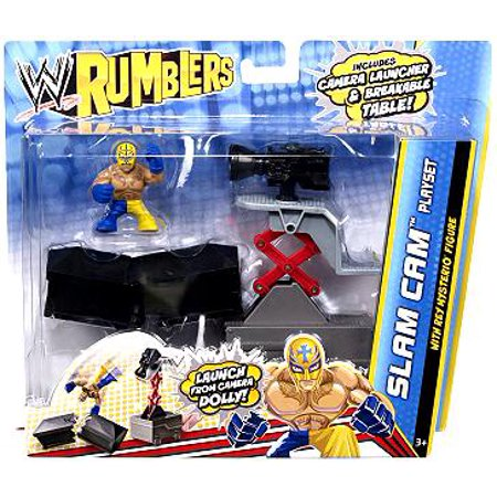 WWE Wrestling Rumblers Series 2 Slam Cam Mini Figure Playset [With Rey Mysterio] - Rey Mysterio Suit