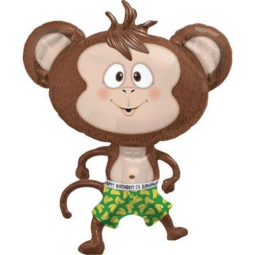 "Birthday Banana Monkey 41"" Balloon  (Each) - Party Supplies"