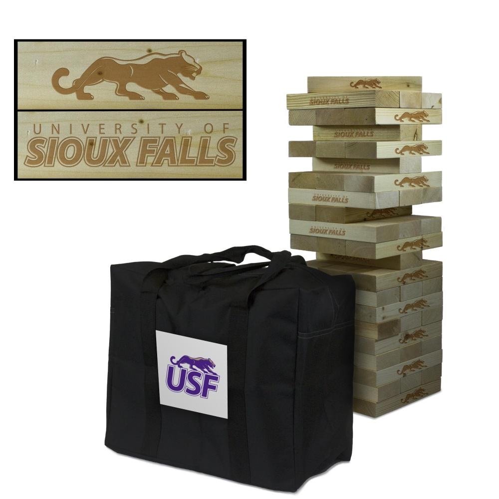 Sioux Falls Cougars Giant Wooden Tumble Tower Game