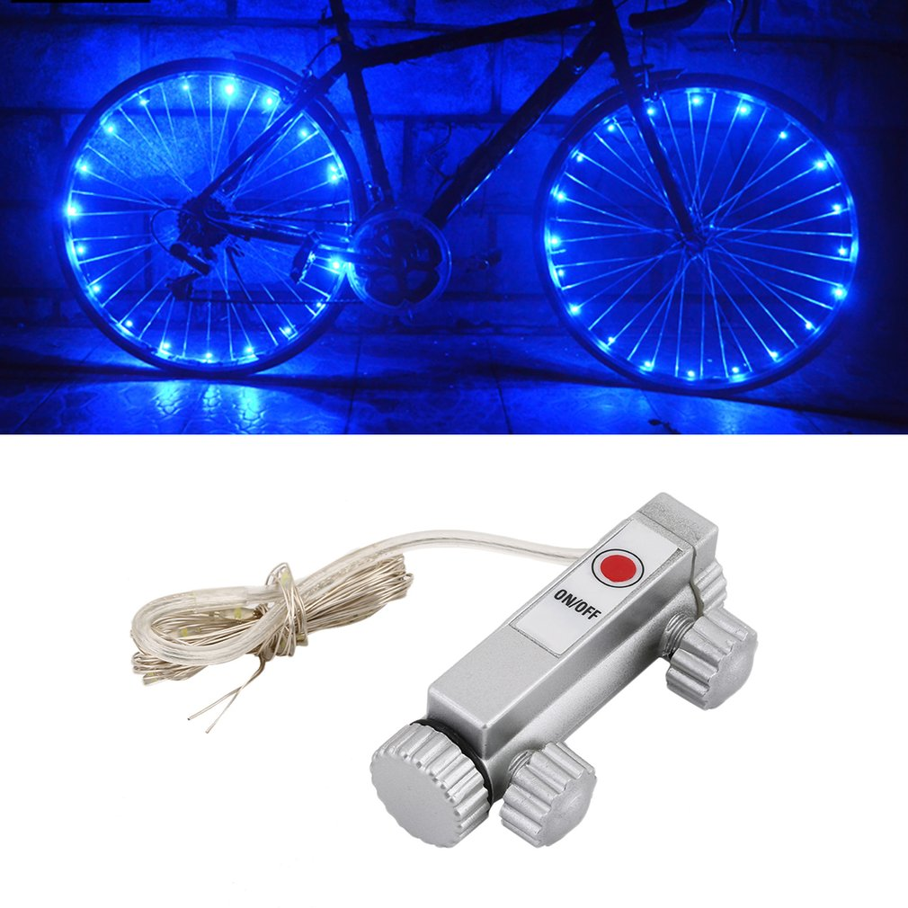 New Waterproof  Colorful LED Bicycle Lights Bike Lamp Cycling Wheel Spoke Light