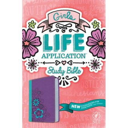 NLT Girls Life Application Study Bible, TuTone (LeatherLike,