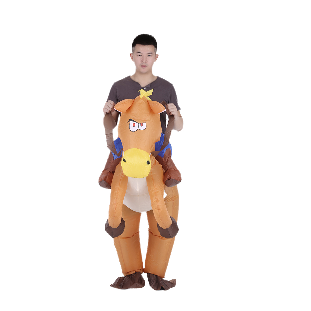 Adult Inflatable Riding On Horse Costume