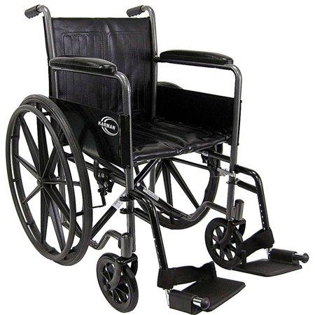 Karman  KN-800T Wheelchair with Fixed Full armrest, 18