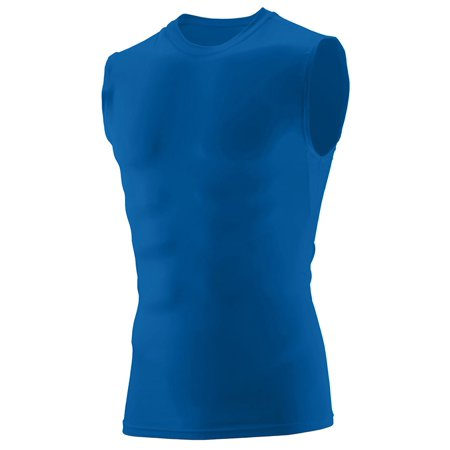 Augusta Sportswear Mens Compression Sleeveless Shirt, Royal, Large, Style, (Mens Sports Wears)