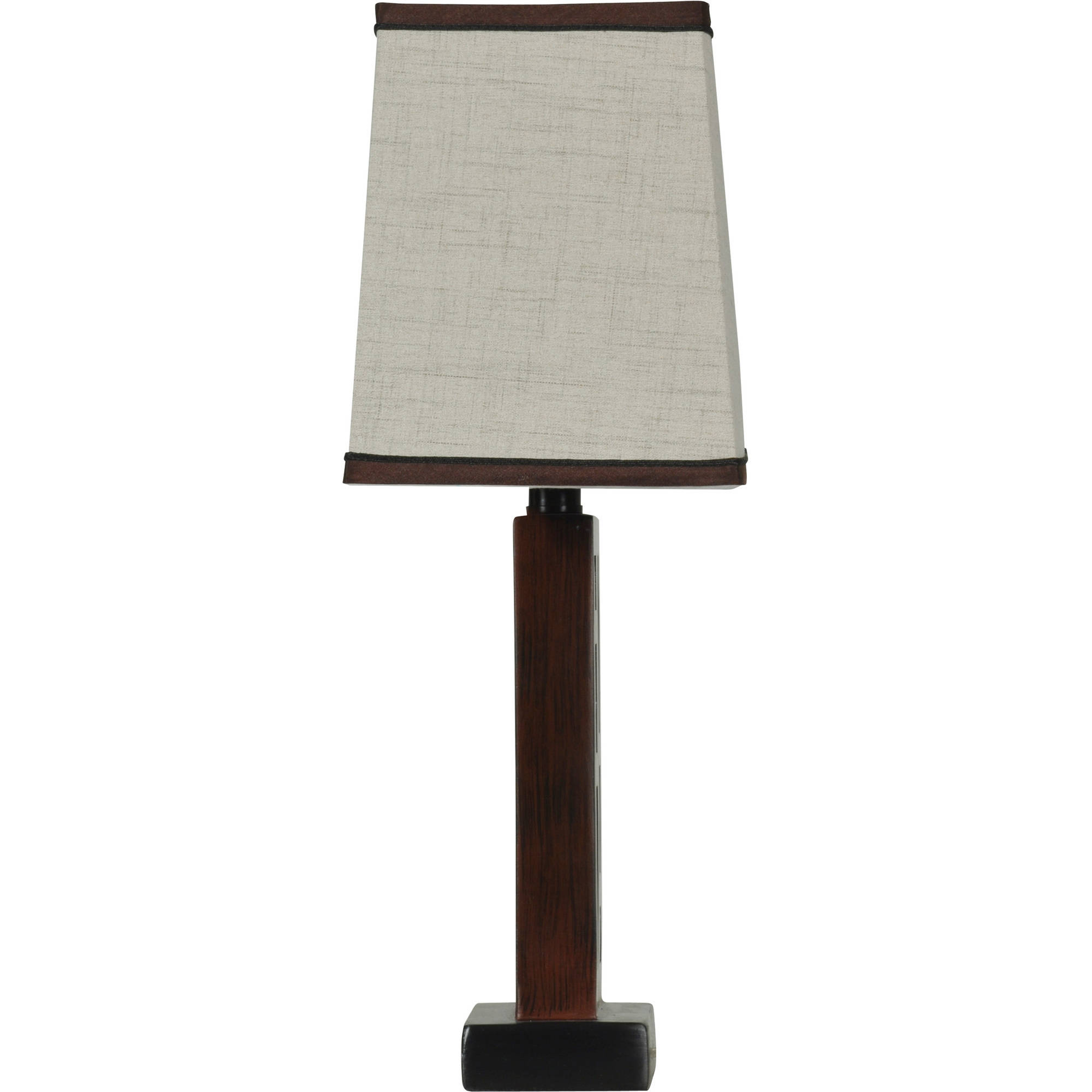 Better Homes and Gardens Open Works Lamp with Shade Walnut