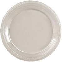 CPC 6644C1 6 in. Disposable Lightweight Clear Plastic Plate, Case of 40