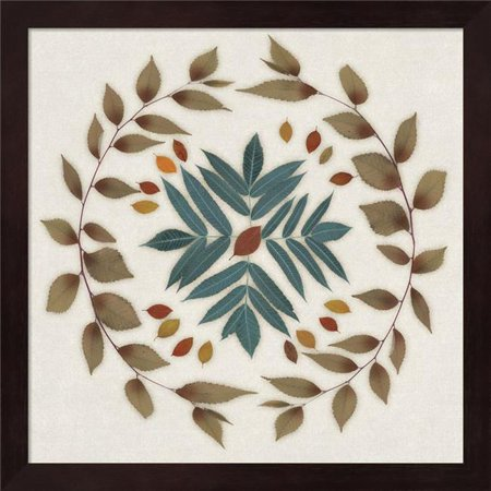 Metaverse R949239-0120000-AEAAAADAN4 13.25 x 13.25 in. Leaf Pattern IV Framed Wall Art by Edward