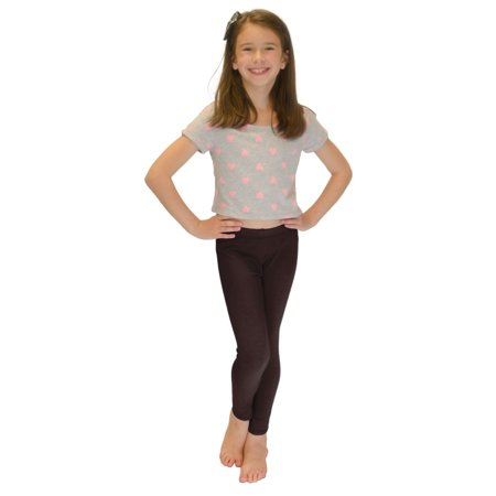 Vivian's Fashions Long Leggings - Girls, Cotton