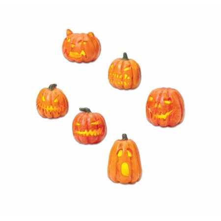 Department 56 Light Up Jack-O-Lanterns Halloween Village Accessory Set of 6 ()