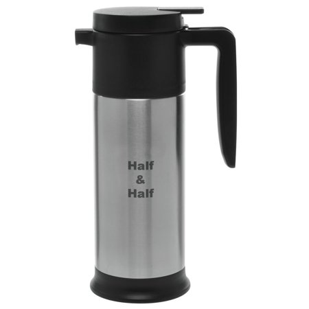 HUBERT Half and Half Decanter With Base, 1 Liter Capacity, Stainless Steel ()