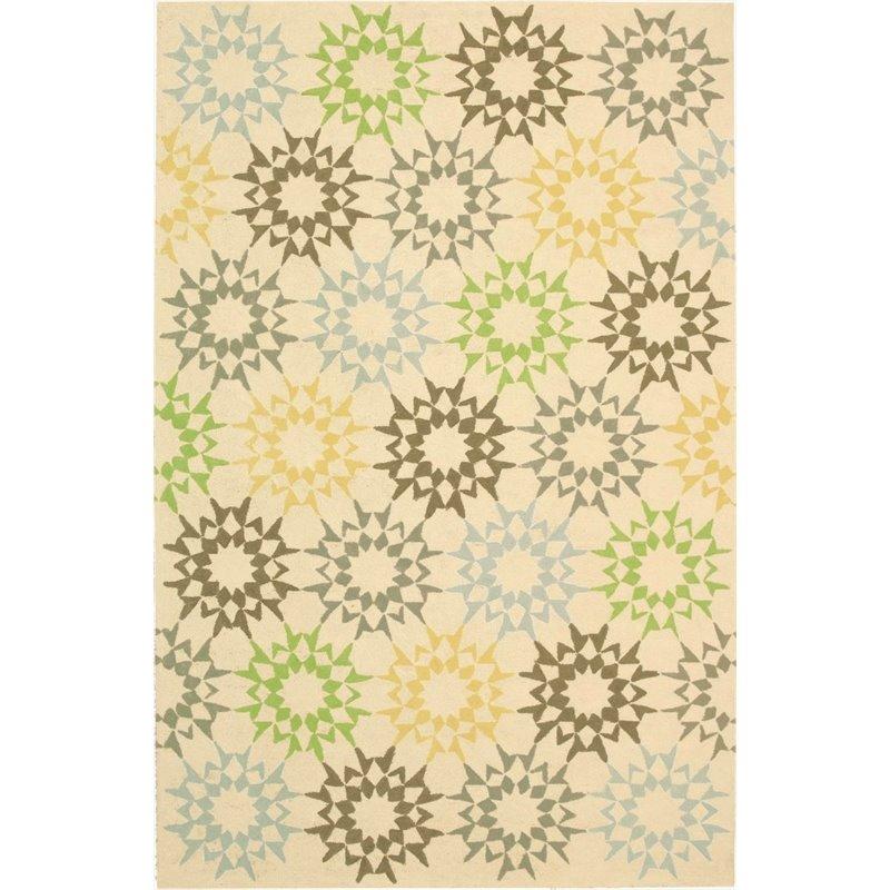 """Safavieh Martha Stewart 3'9"""" X 5'9"""" Handmade Cotton Pile Rug in Creme - image 9 de 10"""