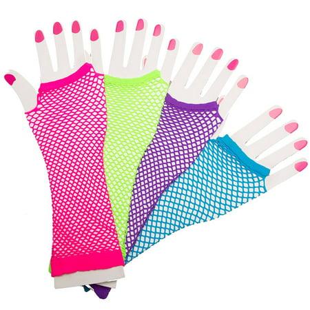 Fingerless Fishnet Gloves (Assorted - Fishnet Gloves For Kids