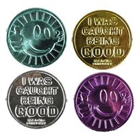 RI Novelty I Was Caught Being Good Coins Teacher Student Awards (144 Pieces)