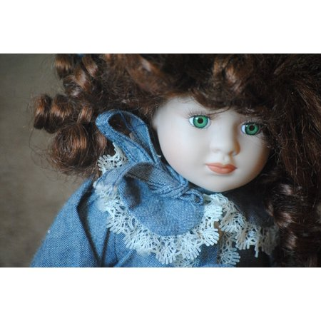 Porcelain Vintage Necklace - LAMINATED POSTER Porcelain Head Face Doll Girl Vintage Antique Poster 24x16 Adhesive Decal