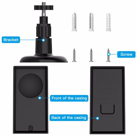 For Wyze Cam Pan 1080p security camera ,Weatherproof sunscreen UV protection outdoor / indoor wall mount adjustable bracket with protective holster,Wyze Cam Pan -