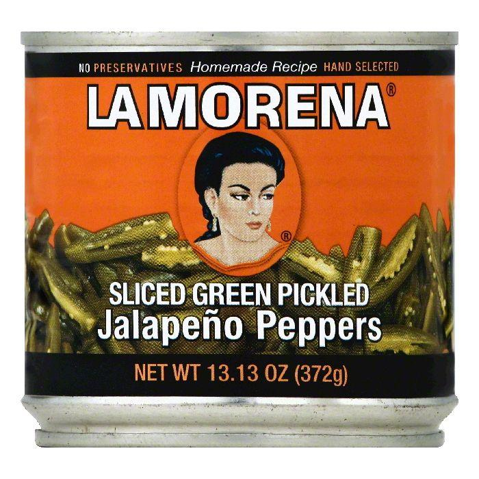 La Morena Sliced Green Pickled Jalapeno Peppers, 13.13 OZ (Pack of 12)