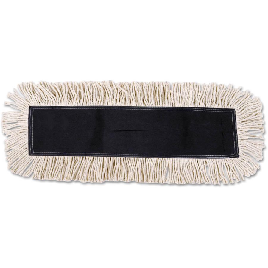 Boardwalk Cotton Synthetic Fibers White Dust Mop Head by UNISAN