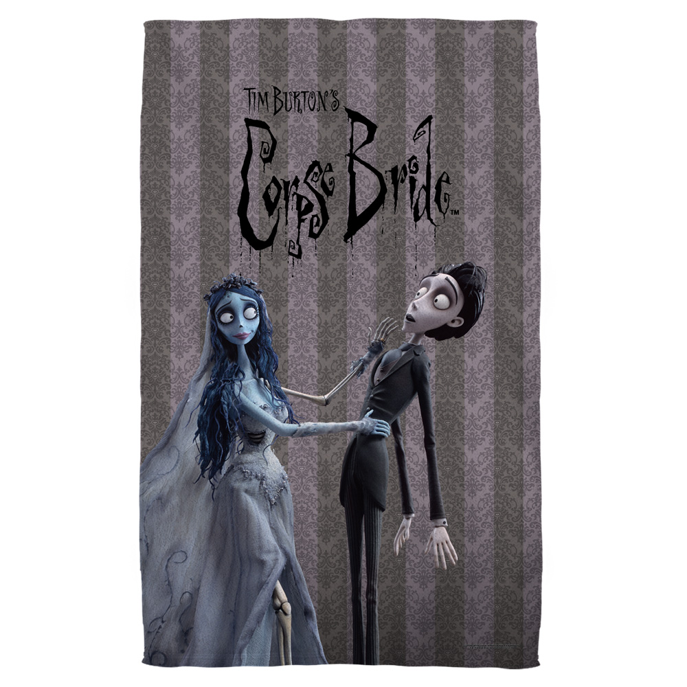 Corpse Bride Bride And Groom Bath Towel White 27X52