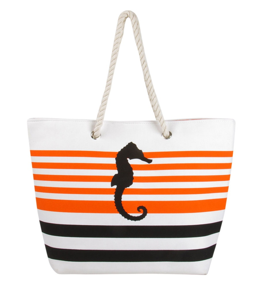Seahorse XL Tote Bag Sunbrella fabric